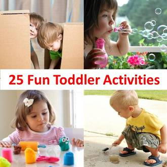 25 Fun activities to keep your toddler busy