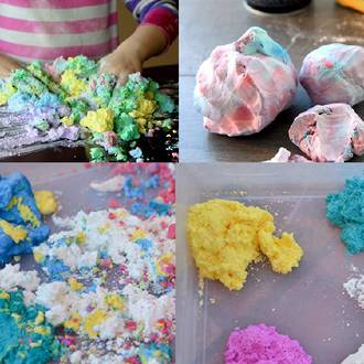 Make your own foam dough