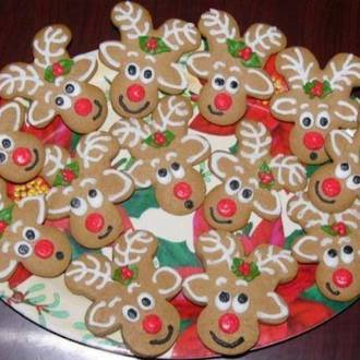 Christmas gingerbread reindeers