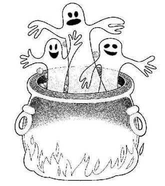 Halloween Ghosts Colouring Sheet