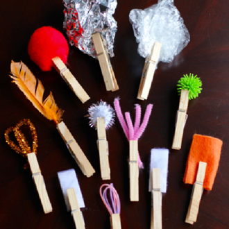 Make your own kids paint brushes