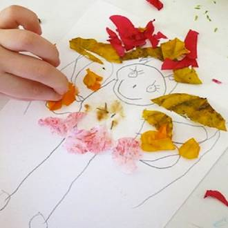 Kids flower art activity