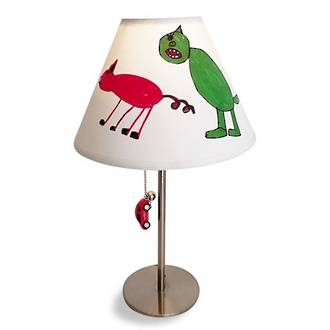 Make an artsy lamp shade for your kids room