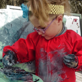 Messy play survival tips for parents