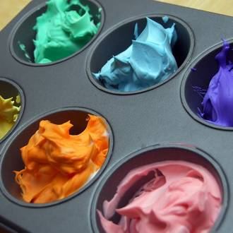 Make your own foam paints