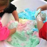 How to make colourful soap slime