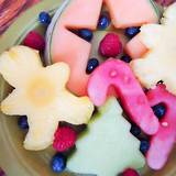 Christmas fruit shapes