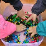 Tapioca pearls sensory play activity