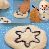 Make your own snow play dough