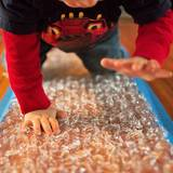 Make your own bubble wrap runway