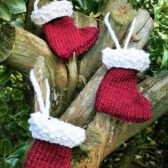 mini wool christmas stockings - Homemade Christmas Stockings
