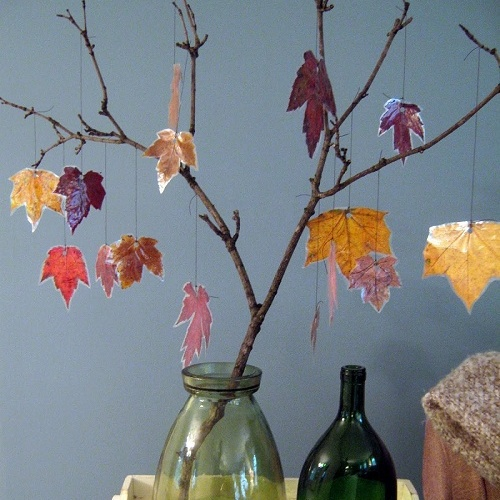 Kids Autumn Activities Make Your Own Autumn Tree Decorations