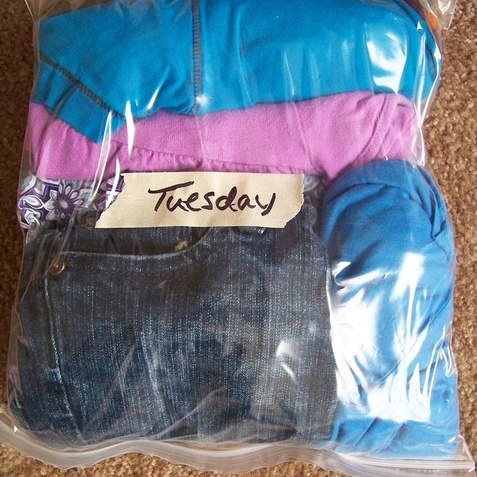 tips on how to pack clothes using zip lock bags